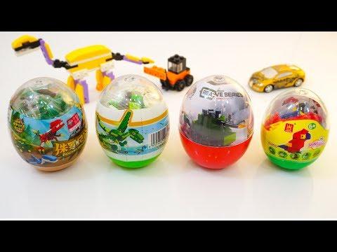 LEGO Style Building Blocks Surprise EGGS Opening | Animal, Dinosaurs, Battle Tank Surprise Eggs.