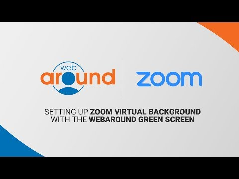 How to Set Up Zoom Virtual Background | Webaround Green Screen