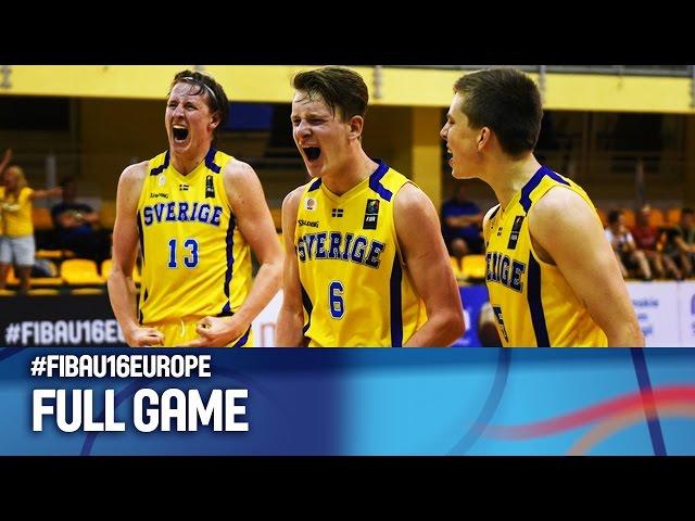 Σουηδία - ΕΛΛΑΔΑ 59-57 . (vid) Αγώνας για τις θέσεις 9-16 στο Ευρωπαϊκό Πρωτάθλημα Παίδων