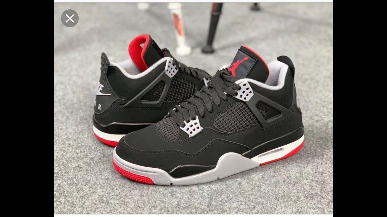 "8f3029dd3bfba1 2019 Air Jordan 4 ""Black Cement Bred"" Sneaker Review - YouTube"