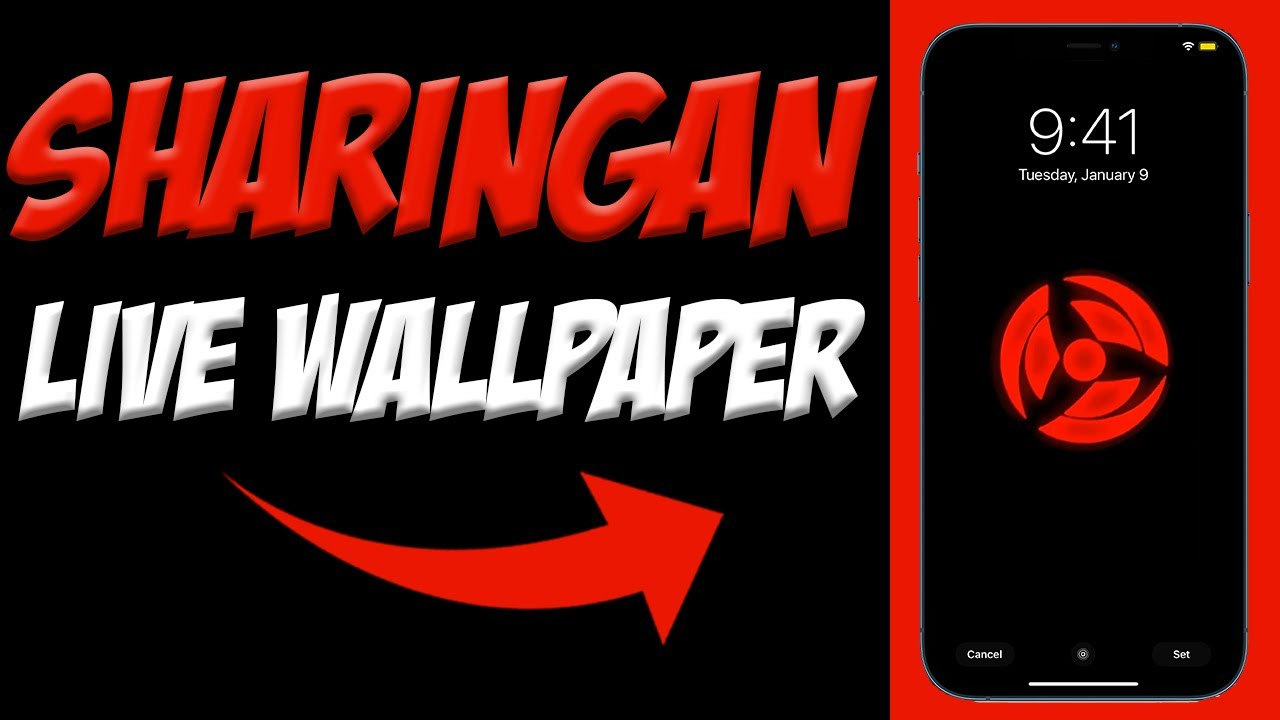 How To Get A Sharingan Live Wallpaper For Iphone Naruto Live Wallpapers For Iphone Youtube