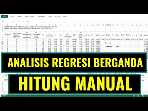 Analisis Regresi Berganda (2 variabel independen) secara Manual von YouTube · Dauer:  7 Minuten 30 Sekunden