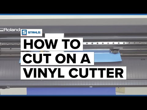 Roland gs cutting vinyl start to finish youtube