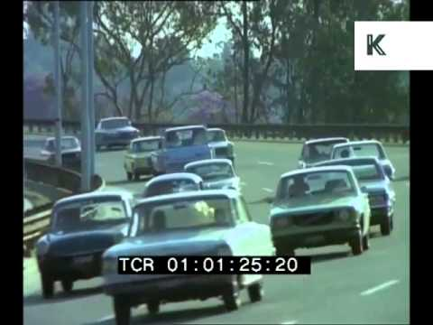 Cars and Roads 1970s Johannesburg, South Africa Driving, 35mm