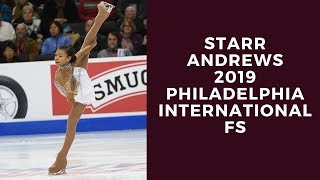 Starr Andrews 2019 Philadelphia International FS