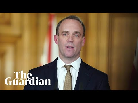 Coronavirus: Dominic Raab Gives Update As Johnson Remains In Hospital – Watch Live