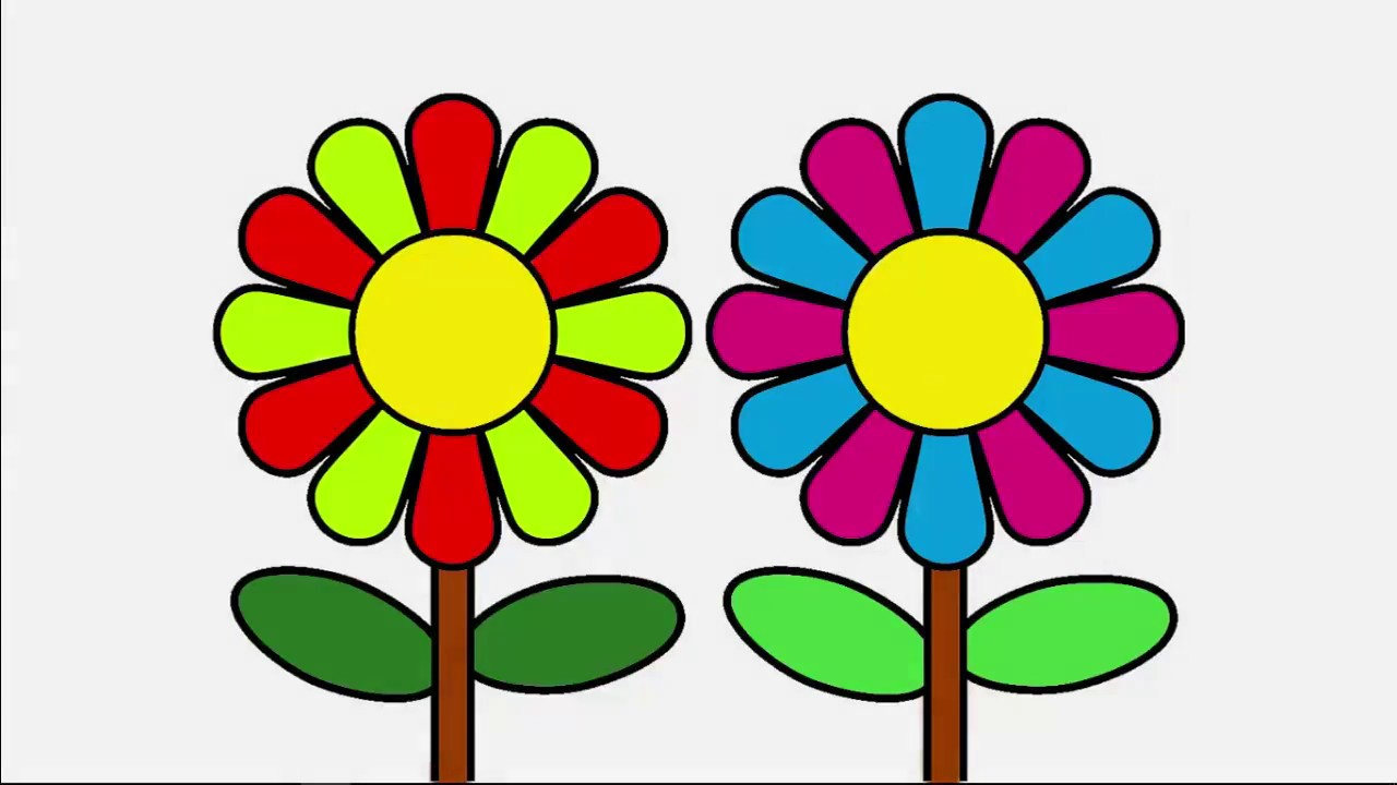 drawing daisy flower and coloring pages for kids drawing and