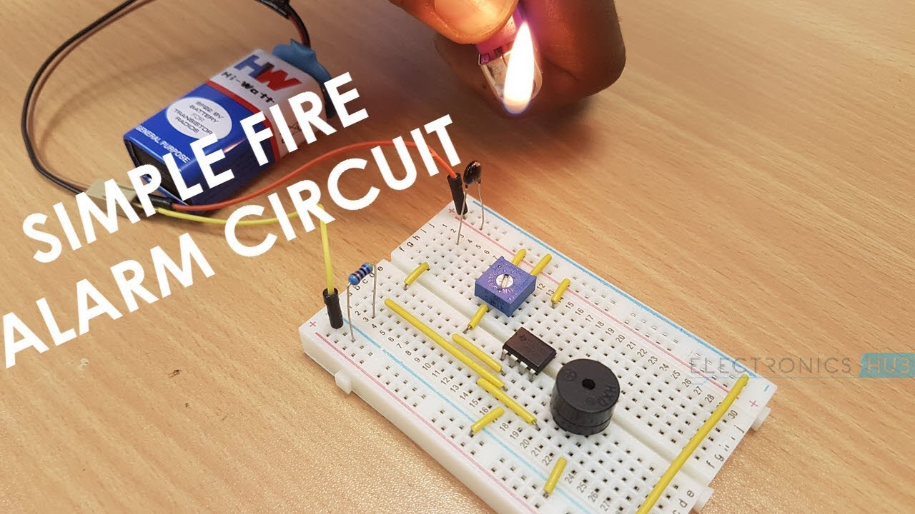 How To Make A Simple Fire Alarm Circuit Youtube Mini Project Diagram