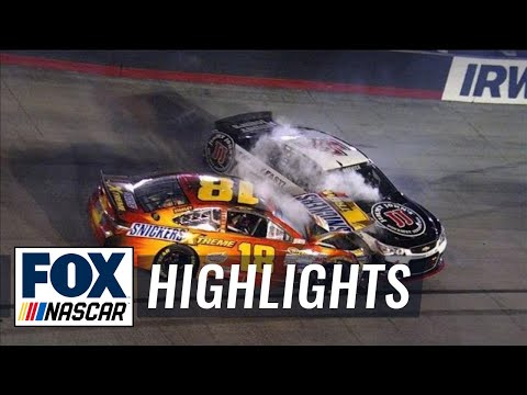 Kevin Harvick Caught in Jimmie Johnson, Jeb Burton Wreck - Bristol - 2015 NASCAR Sprint Cup