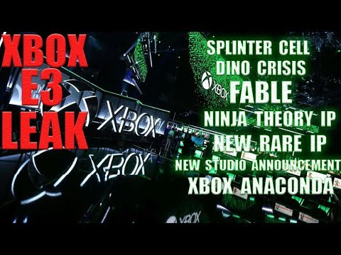 The First Xbox E3 Leak Happened! Dino Crisis, Splinter Cell, Fable, New Exclusives, New Studios!! thumbnail