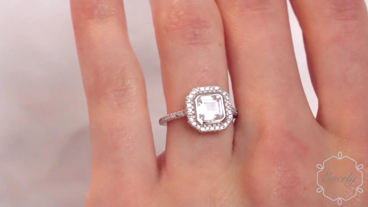The Harlow Ring - $99 1.5 Carat Bezel Set Asscher Cut Simulated ...