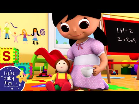 Miss Polly Had a Dolly | Nursery Rhymes | By LittleBabyBum!