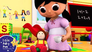 Miss Polly Had a Dolly | Nursery Rhymes | By LittleBabyBum! | ABCs and 123s
