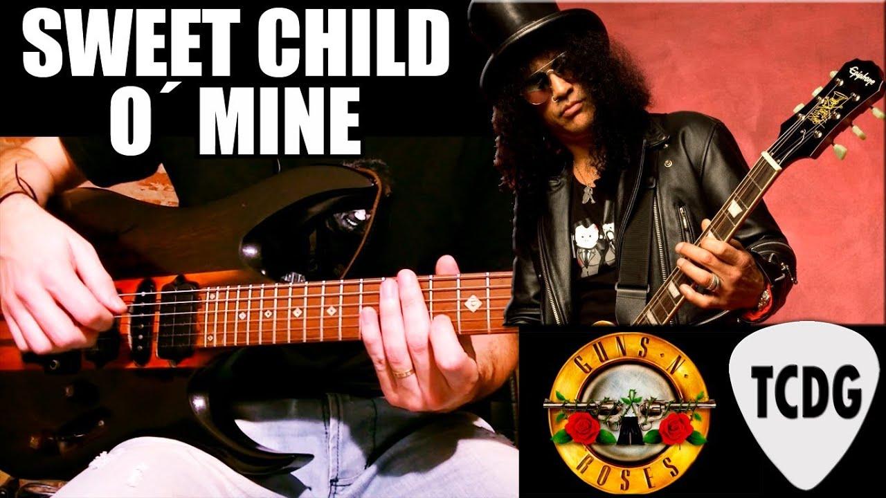 Como tocar SWEET CHILD O´ MINE en guitarra eléctrica / Tutorial en ...