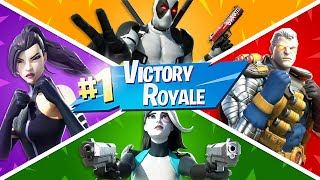 I won with ALL of the X-FORCE Skins! (Fortnite)