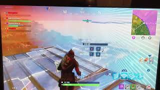 Fortnite Sky Base Troll😂😂 (I told him I'll give him bandages)