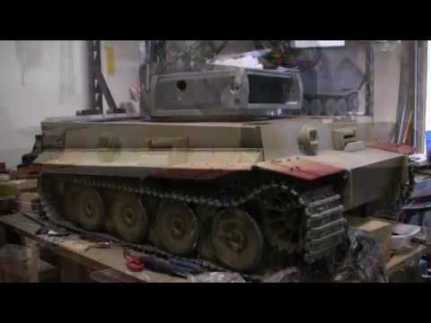 Vintage RC 1/6th scale armortek early production Tiger I Video#9 (upper hull details) part 1 of 2