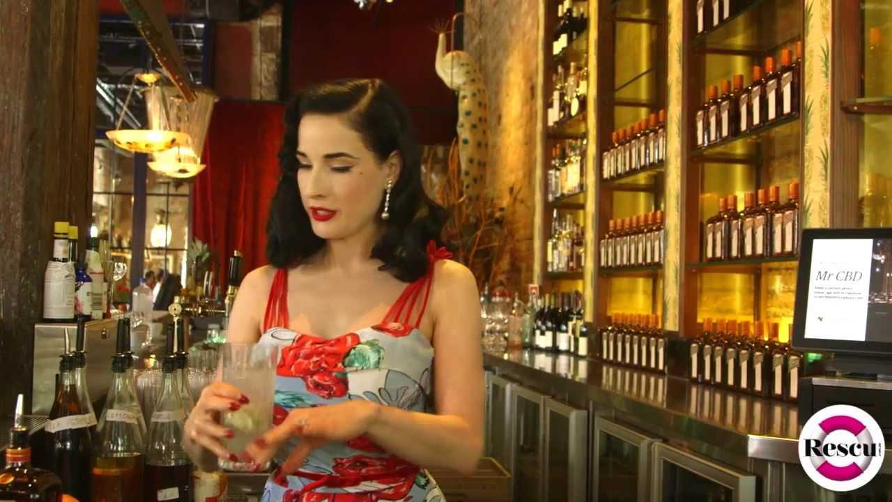 603cf7477b7 Dita Von Teese Shows How To Make a Cointreau Fizz Cocktail - YouTube