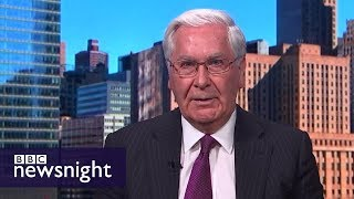 Lord Mervyn King: 'I'm not terribly impressed' by Brexit negotiations - BBC Newsnight thumbnail