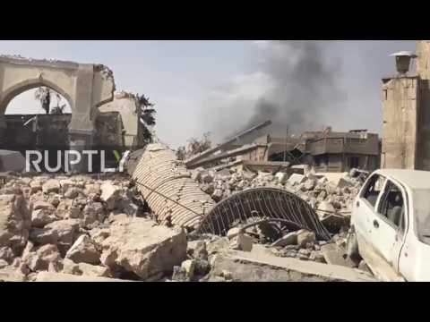 Iraq: Mosul's Grand Mosque lays in ruins after govt. retakes site from IS