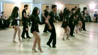 Central Jersey Dance Society Salsa Sensation Mike Andino's Teen Salsa Team Performance 04-07-12