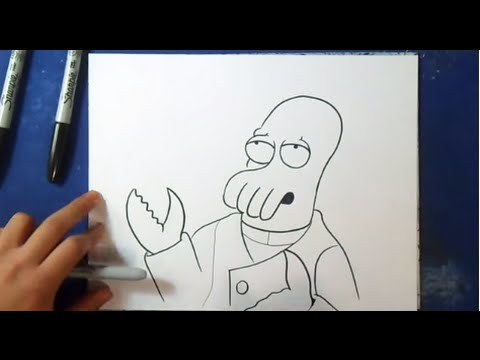 how to draw dr zoidberg