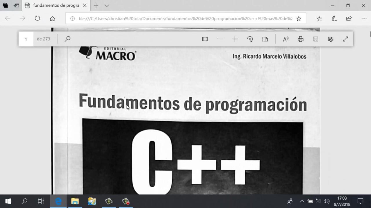 Fundamentos De Programacion Jorge Villalobos Epub