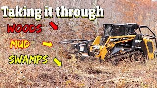 ASV Forestry Skid steer pushed to the limits in swamps, mud and woods