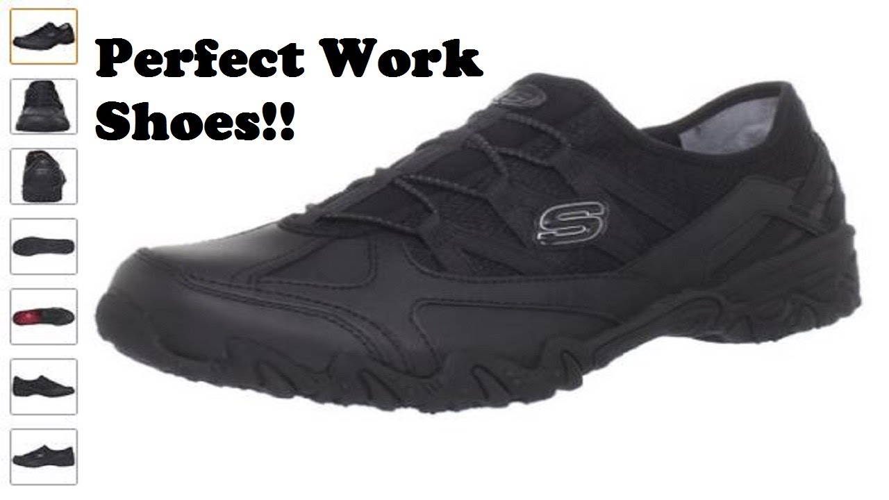 Ladies Non Slip Black Work Shoes