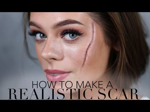 HOW TO MAKE A REALISTIC SCAR / Halloween & SFX Makeup