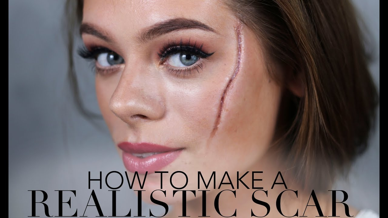 how to make a realistic scar / halloween & sfx makeup - youtube