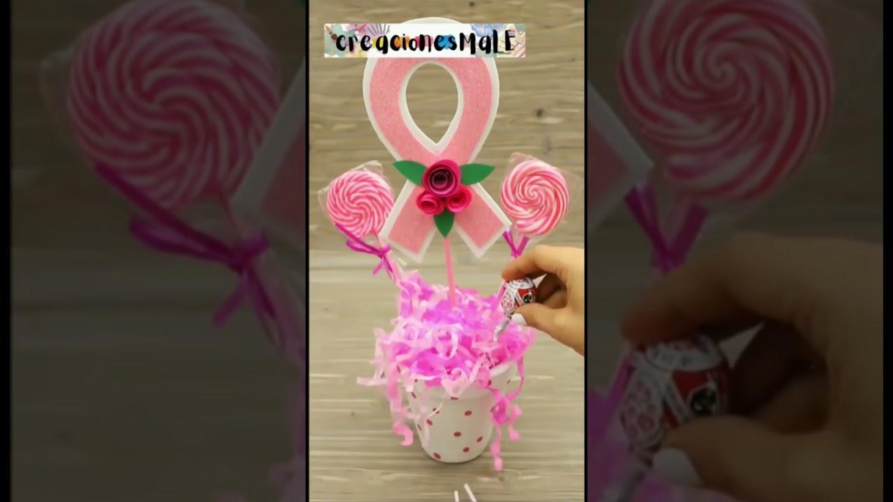 Arreglo de dulces //octubre rosa