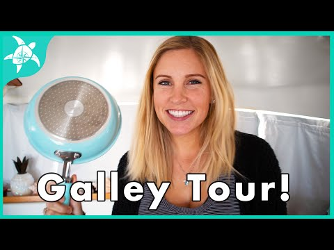 GALLEY UPGRADES - GAS To INDUCTION Stove & Galley TOUR!