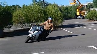 How to do a tight turn/corner on a Motorcycle, full movie (english version)