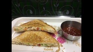 veg cheese paneer sandwich/kids favourite paneer sandwich