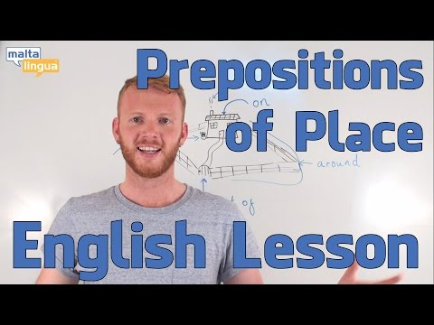 Prepositions of Place - English Grammar Lesson (Elementary)