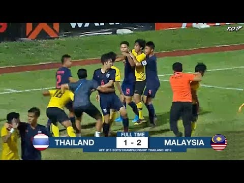 Thailand 1 -2 Malaysia (Highlight HD - Final AFF U15 Championship - 9/8/2019)