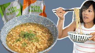 Vite Ramen - High-protein Healthy Instant Ramen?! | BONUS: Emmy's childhood sticker collection
