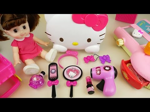 Thumbnail: Hello Kitty hair shop mart register and baby doll toys play