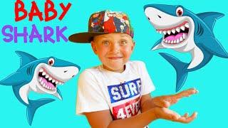 동요와 아이 노래 어린이 교육 Baby Shark in Pool with Mark