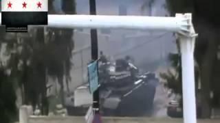 Сирия  захват танка и КПП на Голанских высотах 16 02 2013