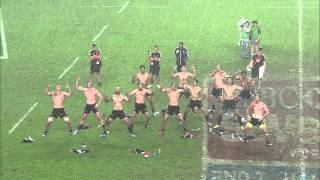 All Blacks Sevens: Haka in the rain