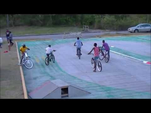 Bikes racing at the Wildey Gymnasium Car Park (BARBADOS)