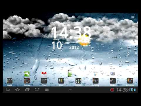 Go Weather live wallpaper - YouTube