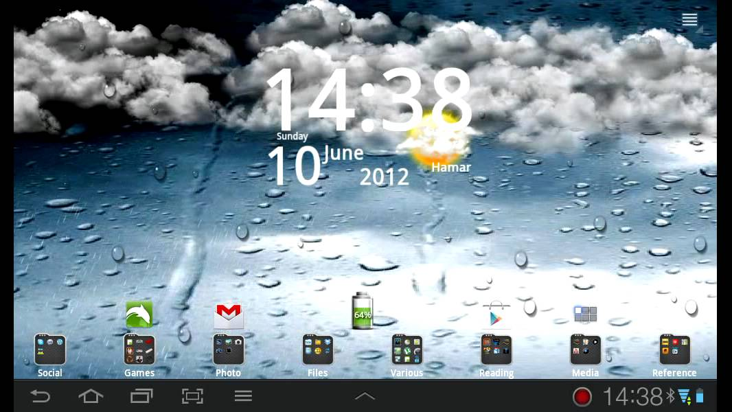 Go Weather live wallpaper - YouTube
