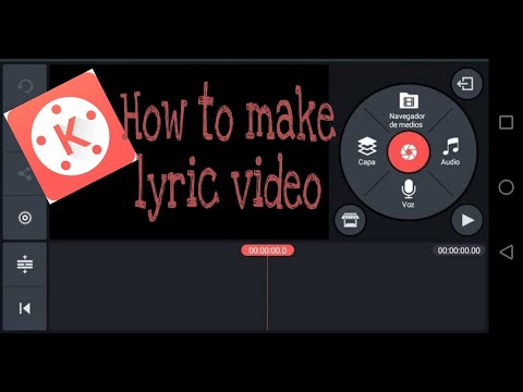 How to make Lyric Video using Android phone | kinemaster (tagalog)