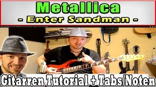 How To Play Metallica ENTER SANDMAN Tabs Intro und Strophe, Anfänger Lesson E Gitarre [HD]