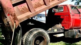 1988 GMC 7000 Dump Truck Red