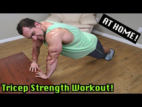 Triceps Workout At Home | Bodyweight Strength Training