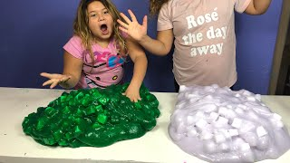3 GALLONS OF JELLY CUBE SLIME VS 3 GALLONS OF JELLY CUBE SLIME - MAKING GIANT SLIMES